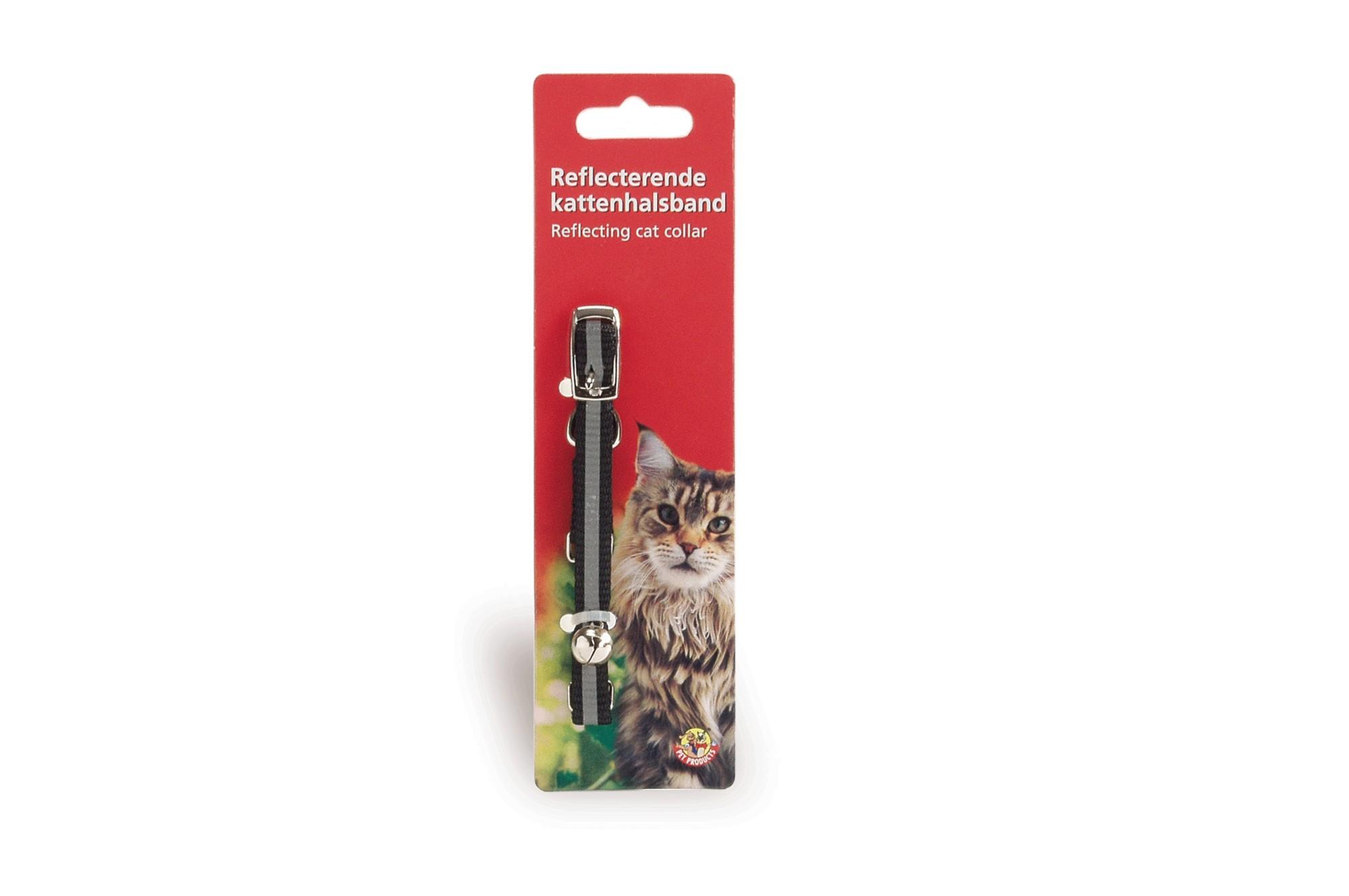 Collier pour chat en nylon avec bande réfléchissante à boucle