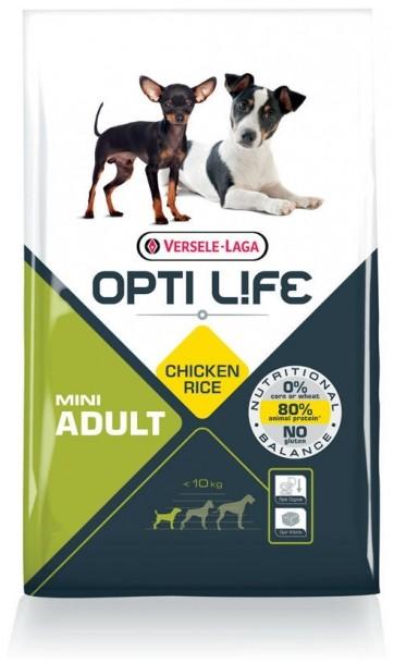 Opti Life Chien Adulte Mini, Poulet et Riz