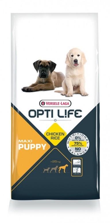 Opti Life Chiot Puppy Maxi, Poulet et Riz