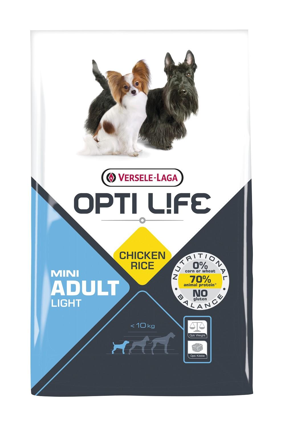 Opti Life Chien Light Mini Adulte, Poulet & Riz