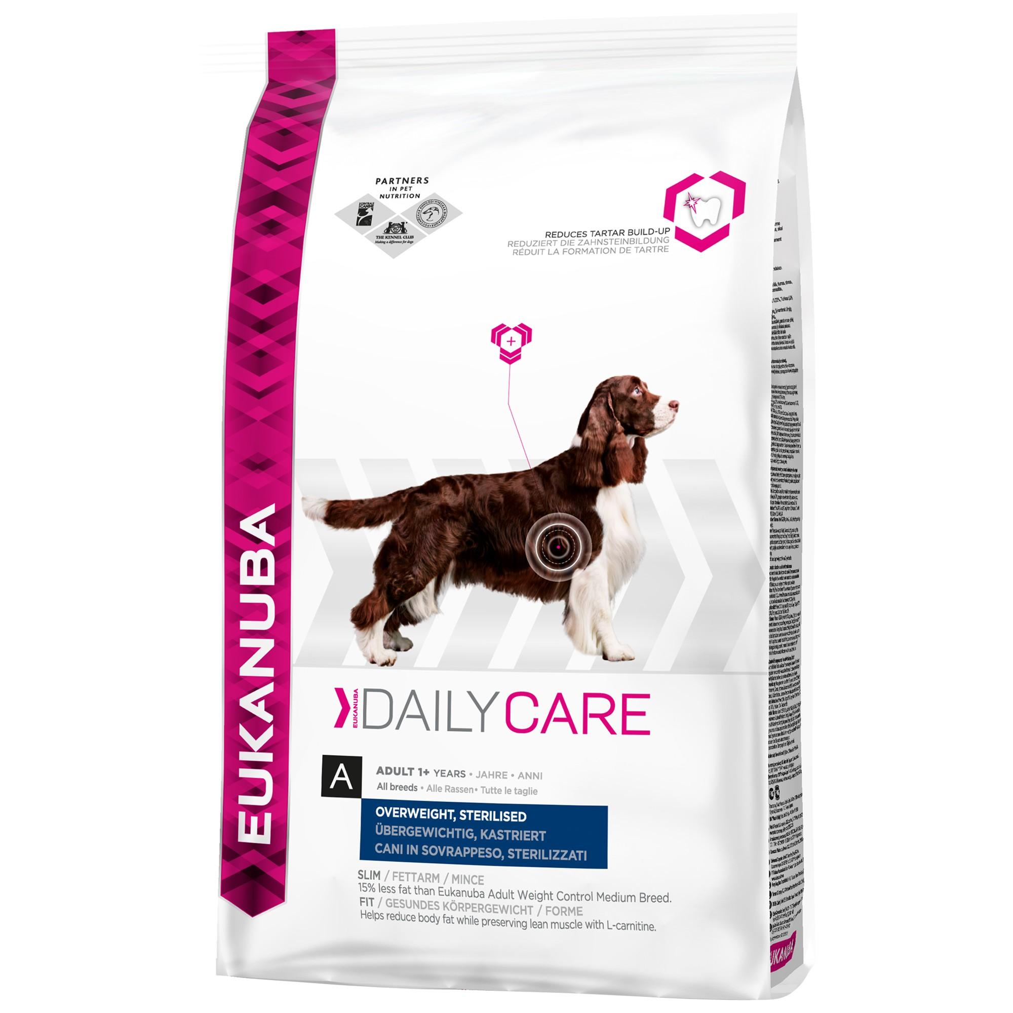 Eukanuba Daily Car Surpoids ou Stérilisé pour chien