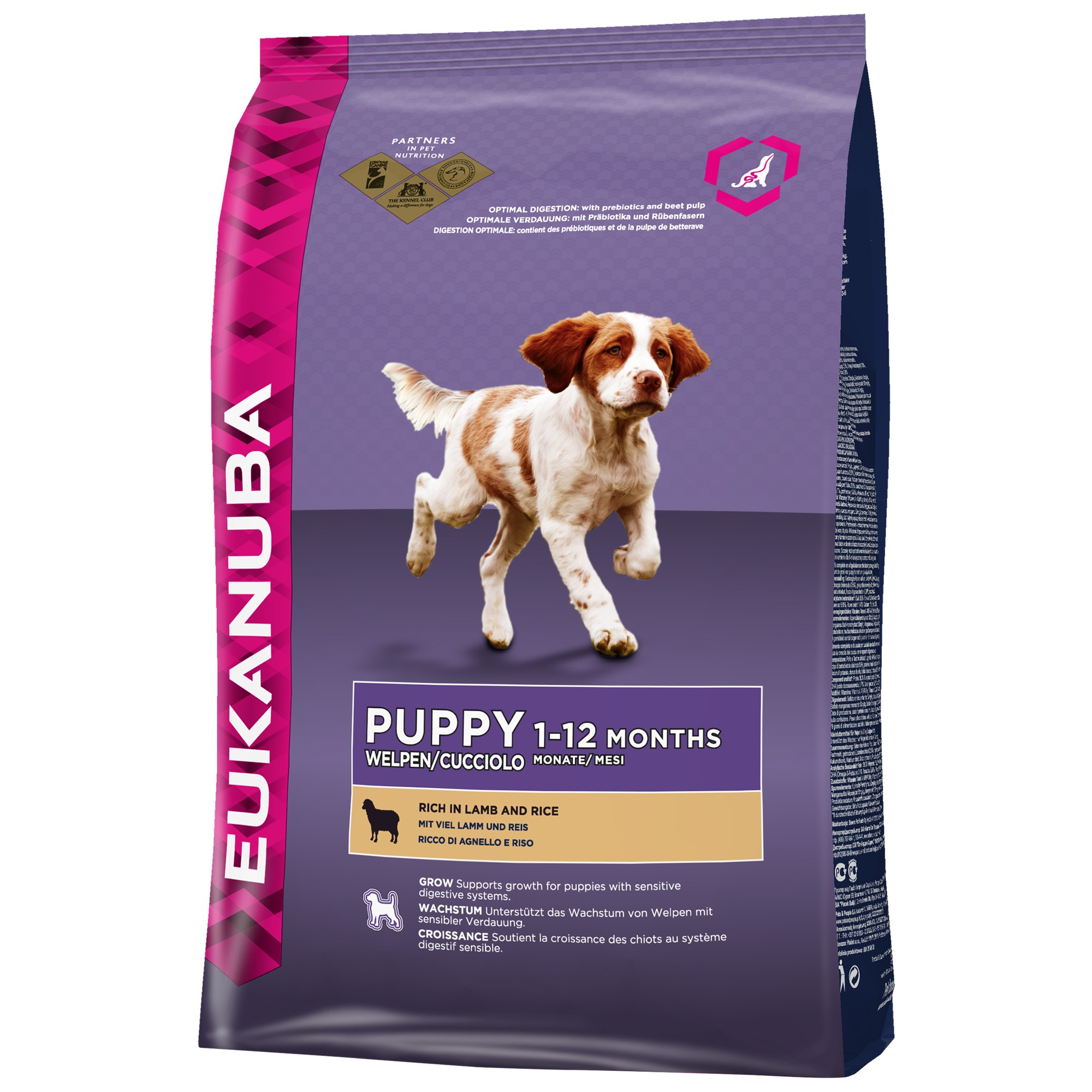 Eukanuba Puppy Small Medium Breed agneau riz pour chiot