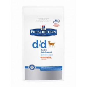 Hill's Prescription Diet Skin Support d/d saumon riz pour chien