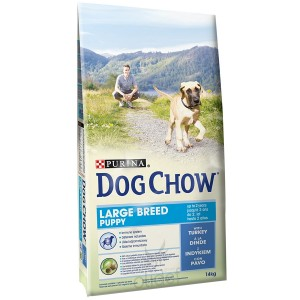 Dog Chow Chiot Puppy Grande Race, dinde et riz