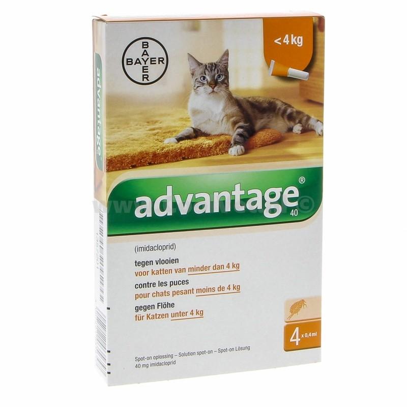 Advantage Nr. 40 pour chat ACTION TEMPORAIRE