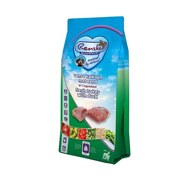 Renske Super Premium Adult Dindon & Canard Frais pour chien