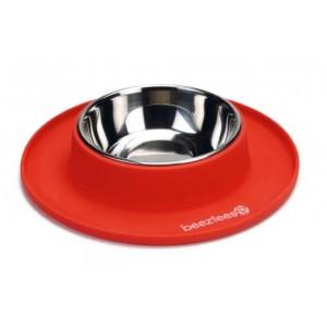 Beeztees Gamelle en silicone couleur rouge (650648)