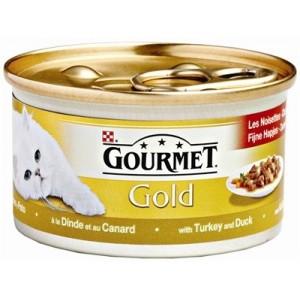 Gourmet Gold Chat tendres bouchées Dinde et Canard