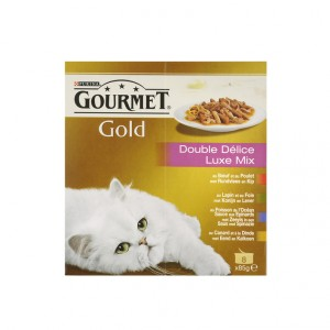 Gourmet Gold 8-Pack Luxe Mix pour chat