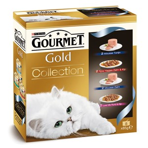 Gourmet Gold 8-Pack Collections pour chat