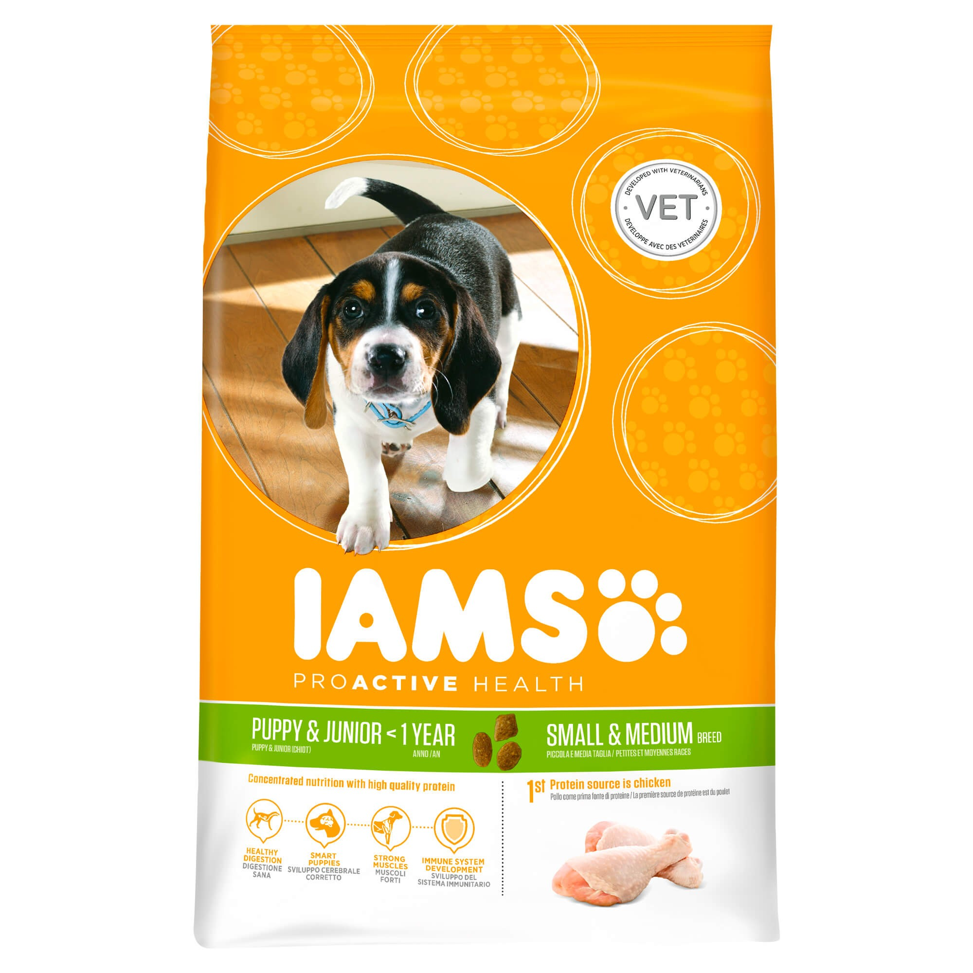 Iams Chiot Puppy & Junior Small & Medium Breed
