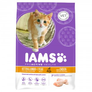 Iams Chaton et Junior au Poulet