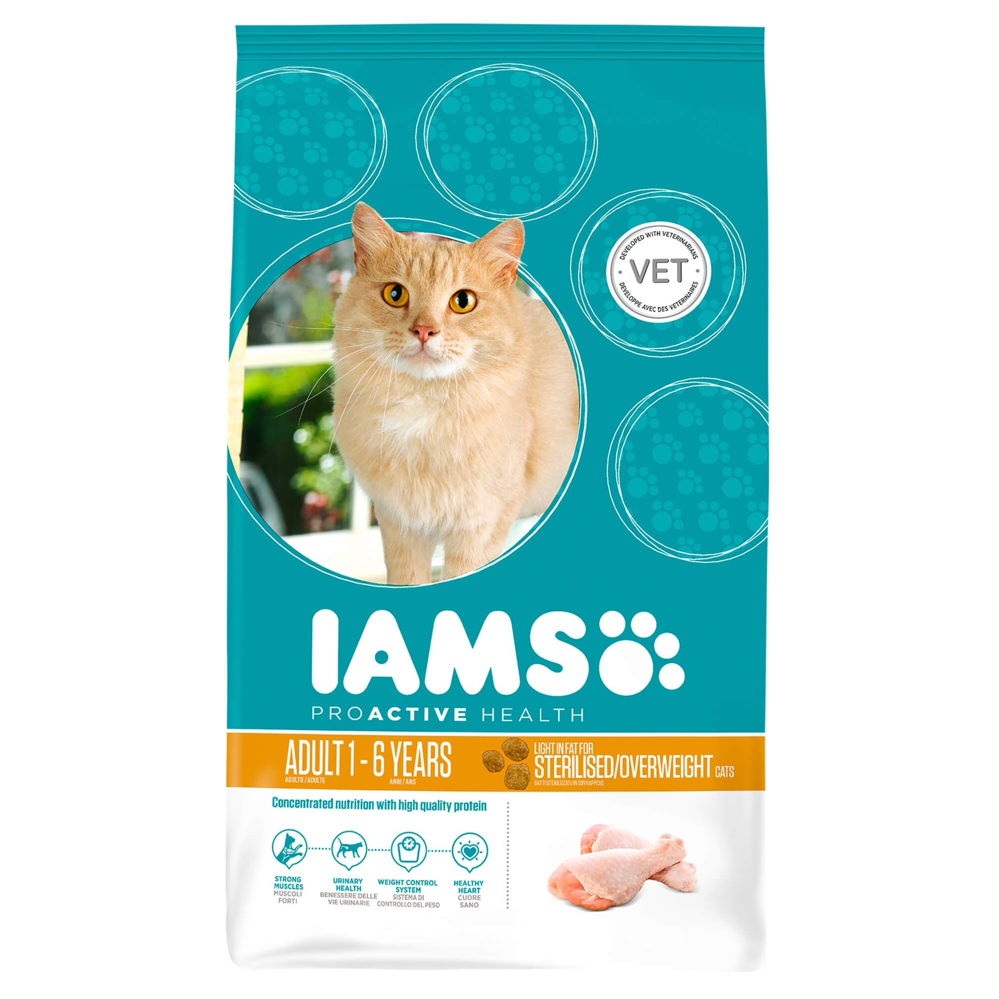 Iams Chat - Adult Sterilised/Overweight Poulet