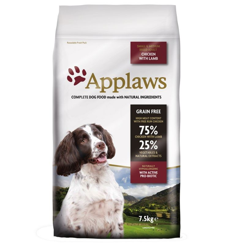 Applaws Small & Medium Adult Poulet & Agneau pour chien