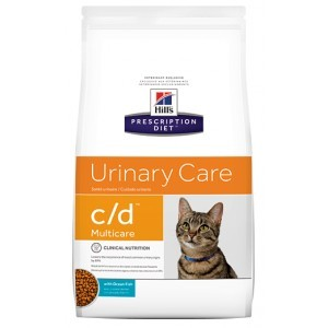 Hill's Prescription Diet Urinary Care C/D Multicare poulet et poisson pour chat