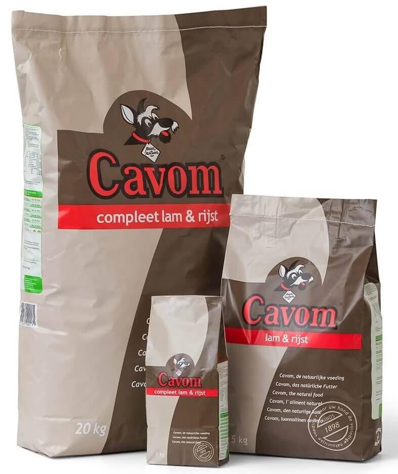 Cavom Complet Agneau Riz pour Chien