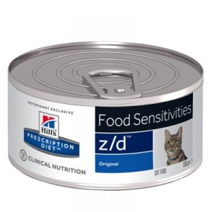 Hill's Prescription Diet Food sensitivities z/d 156g pour chat