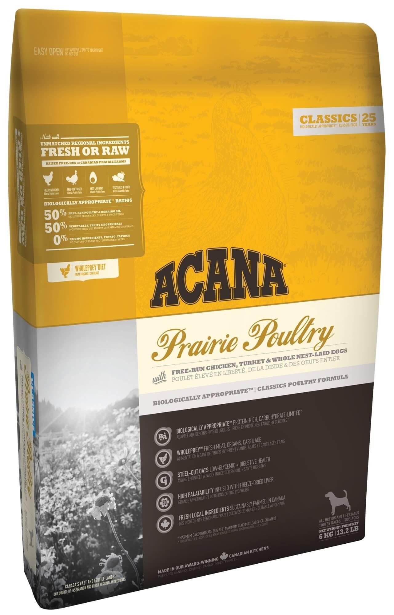 Acana Classics Prairie Poultry pour Chien