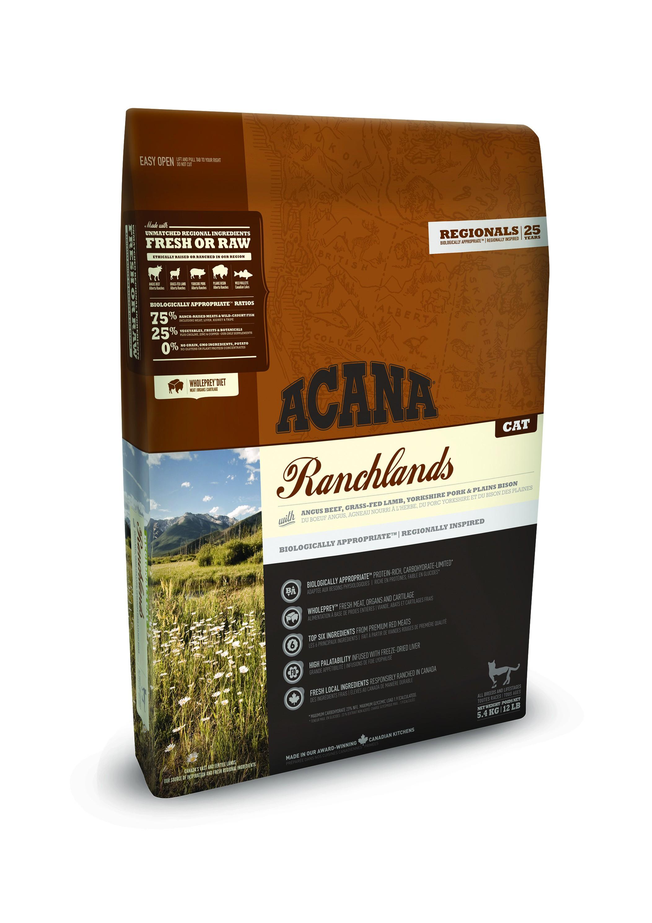 Acana Regionals Ranchlands pour chat