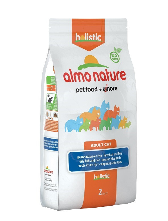 Almo Nature Holistic Chat Adulte Poisson Blanc/Riz