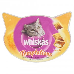 Whiskas Temptations Poulet & Fromage pour chat
