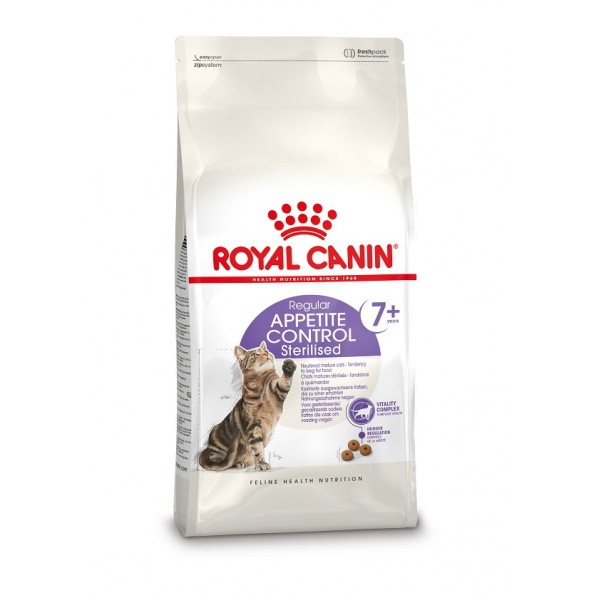 royal canin sterilised appetite control 7 alimentation all g e pour les chats st rilis s prix. Black Bedroom Furniture Sets. Home Design Ideas