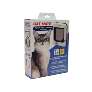 Cat Mate 4-way Rotary Chatière 358 Blanche