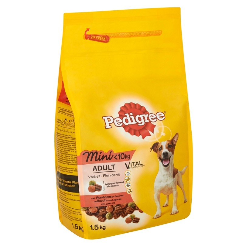 Pedigree Chien Adulte Mini, au bœuf