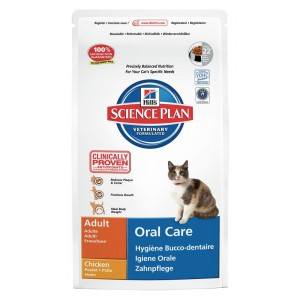 Hill's Oral Care Adulte Chat, au poulet