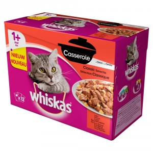Whiskas +1 Casserole Sélection Classique en gelée
