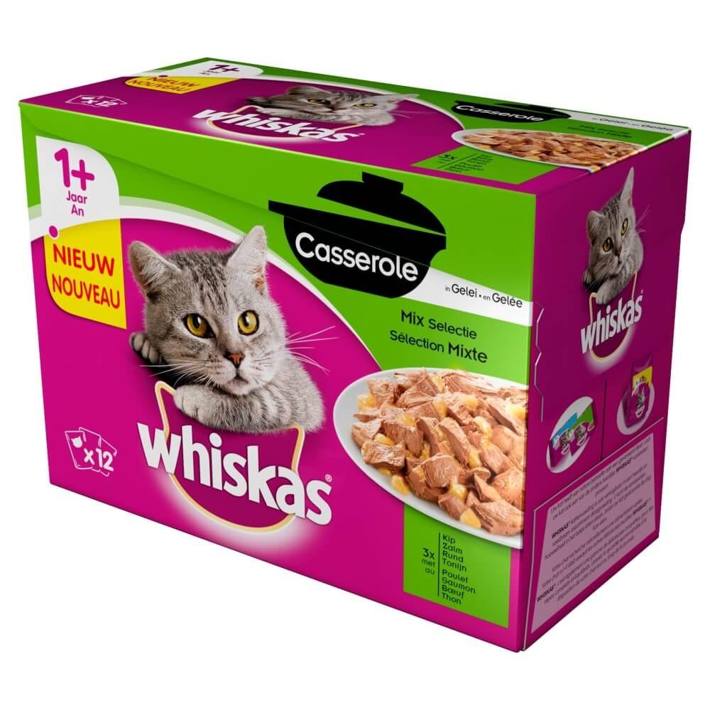 Whiskas 1+ Casserole Sélection Mixte en gelée