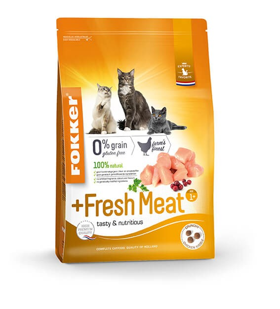 Fokker Adult + Fresh Meat pour chat