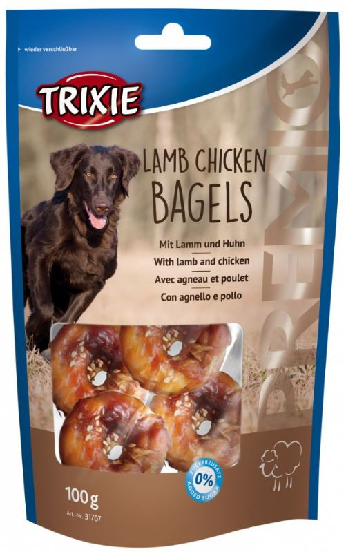 Premio Lamb Chicken Bagels snacks pour chien