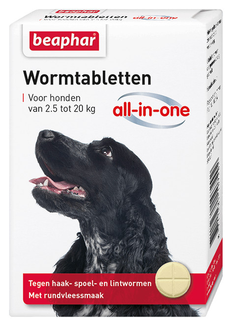 Beaphar Wormer All-in-One (2,5 - 20 kg) pour chien