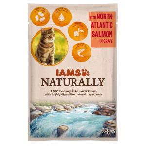 Iams Naturally Adulte Saumon sacs de 85g pour chat