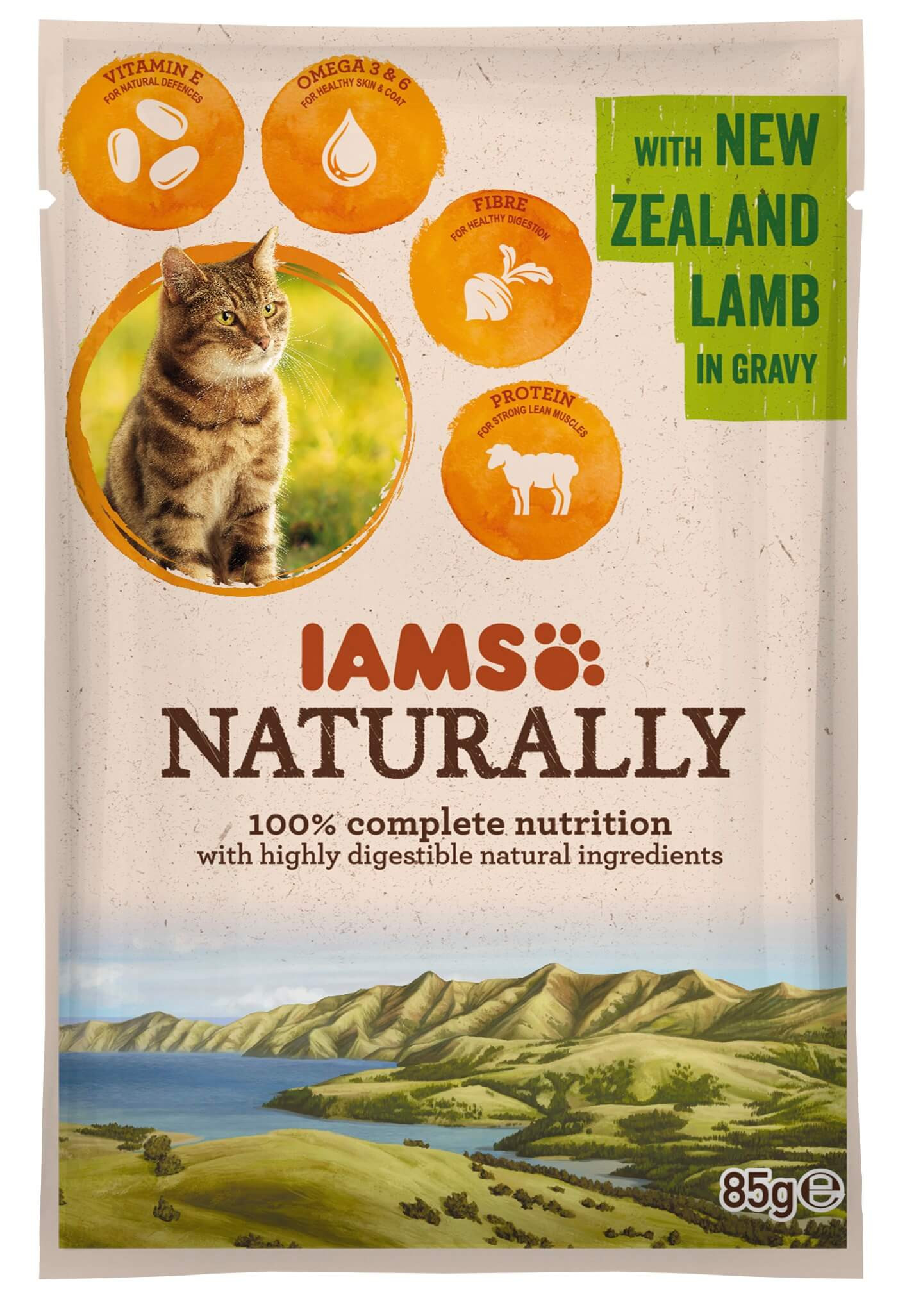 Iams Naturally Adulte Agneau sacs de 85g pour chat