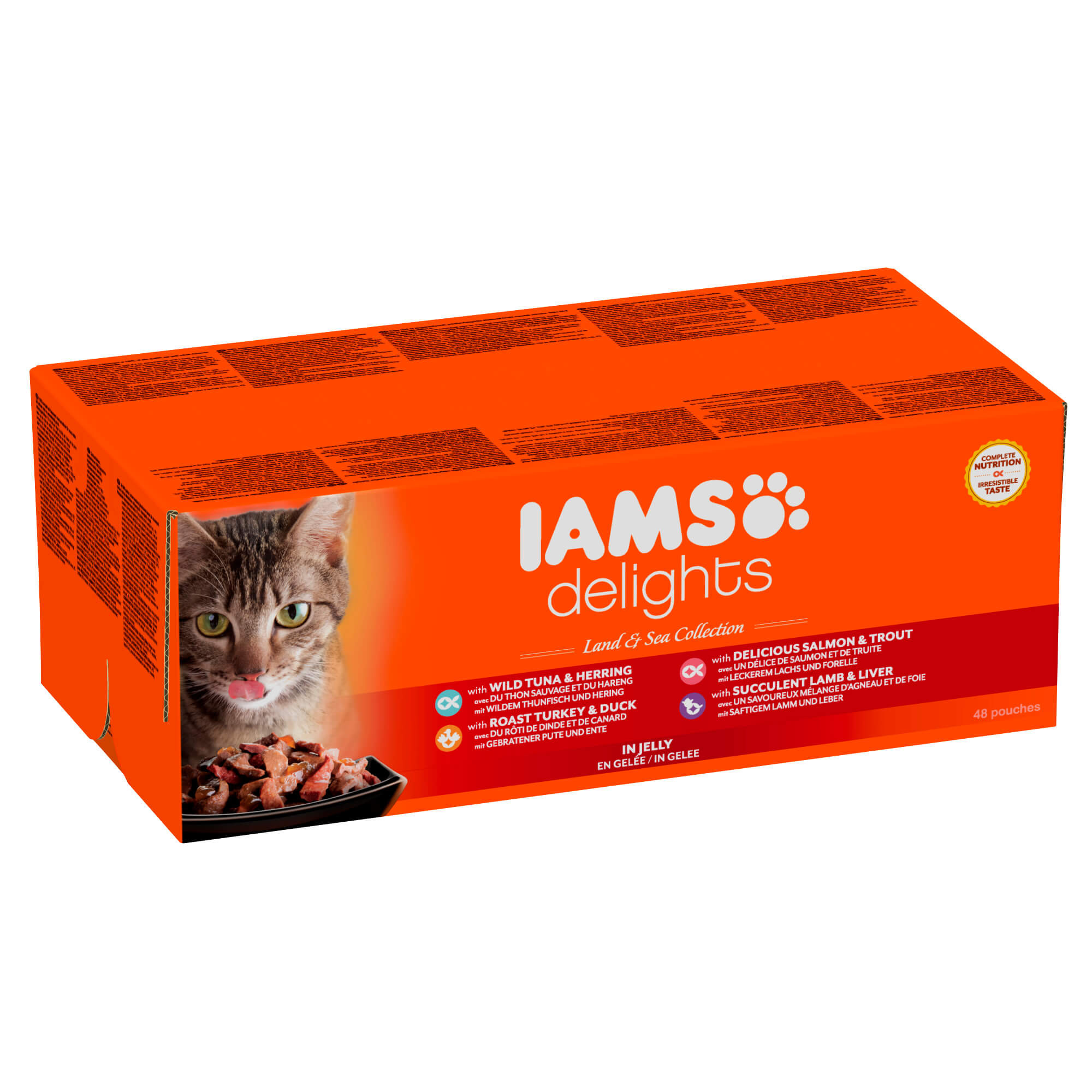 Iams Delights Collection Terres & Mers 48 x 85g pour chat