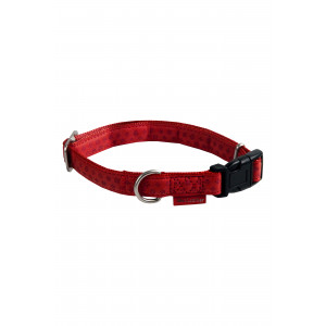 Macleather collier en cuir réglable rouge pour chien FIN DE STOCK