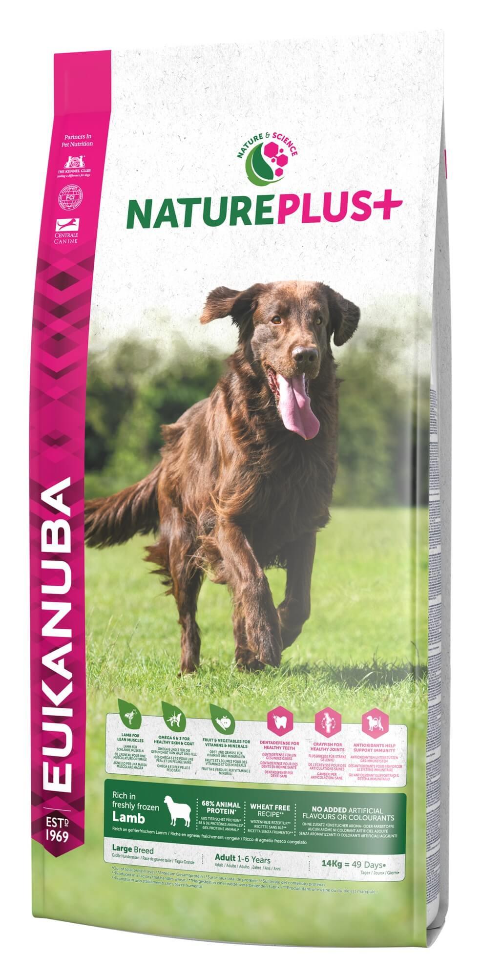 Eukanuba NaturePlus Adult à l'agneau frais pour grand chien