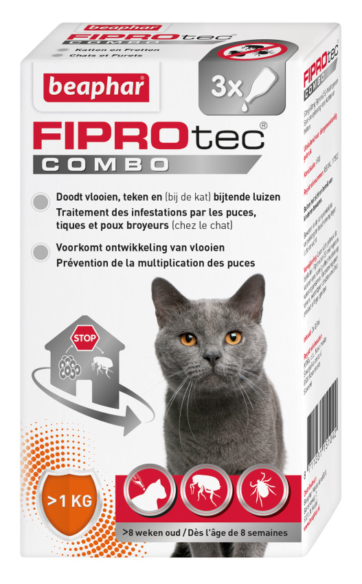 Beaphar FiproTec Combo Anti-Puces pour Chat