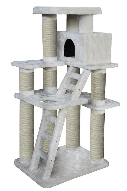 Krabpaal Loft grijs 80x60x160 voor de kat