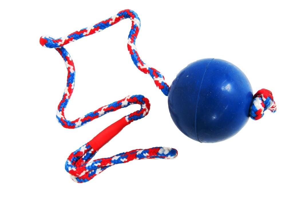 Massief rubberen bal aan touw