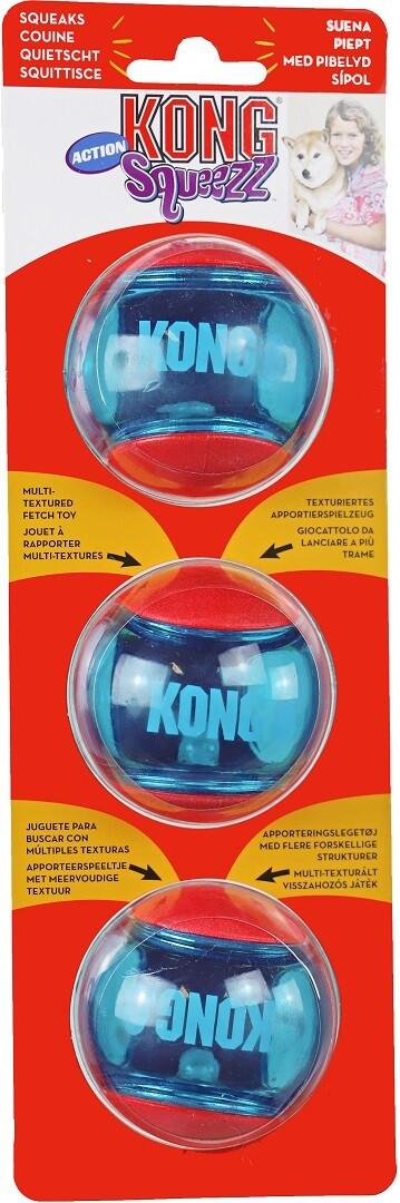 Kong Squeez Action pour chien moyen - 3 unités