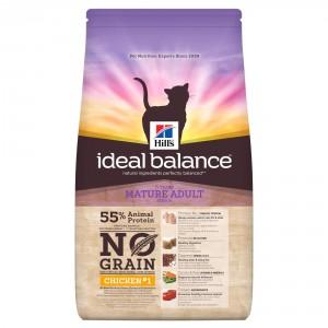 Image de 1.5 kg Hill's Ideal Balance Mature Adult No Grain poulet pour chat