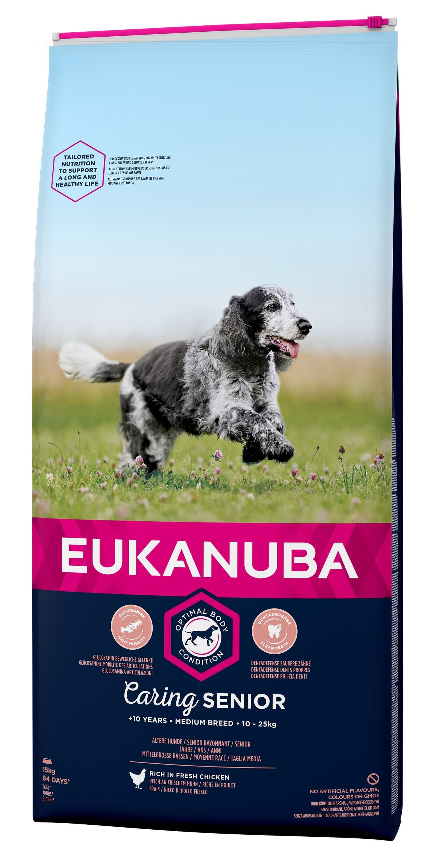 Eukanuba Caring Senior Medium Breed au poulet pour Chien