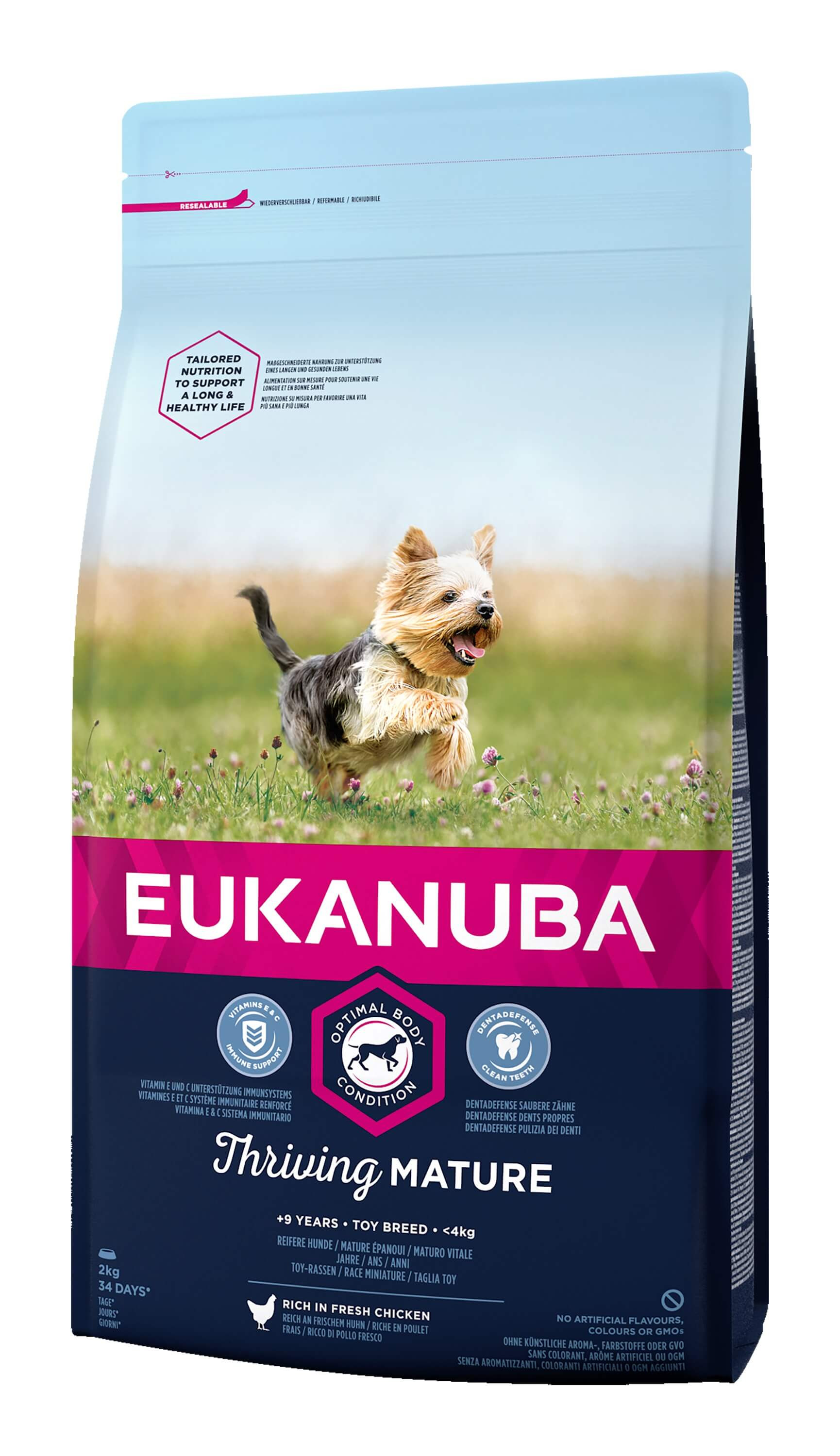Eukanuba Thriving Mature Toy Breed au poulet pour Chien
