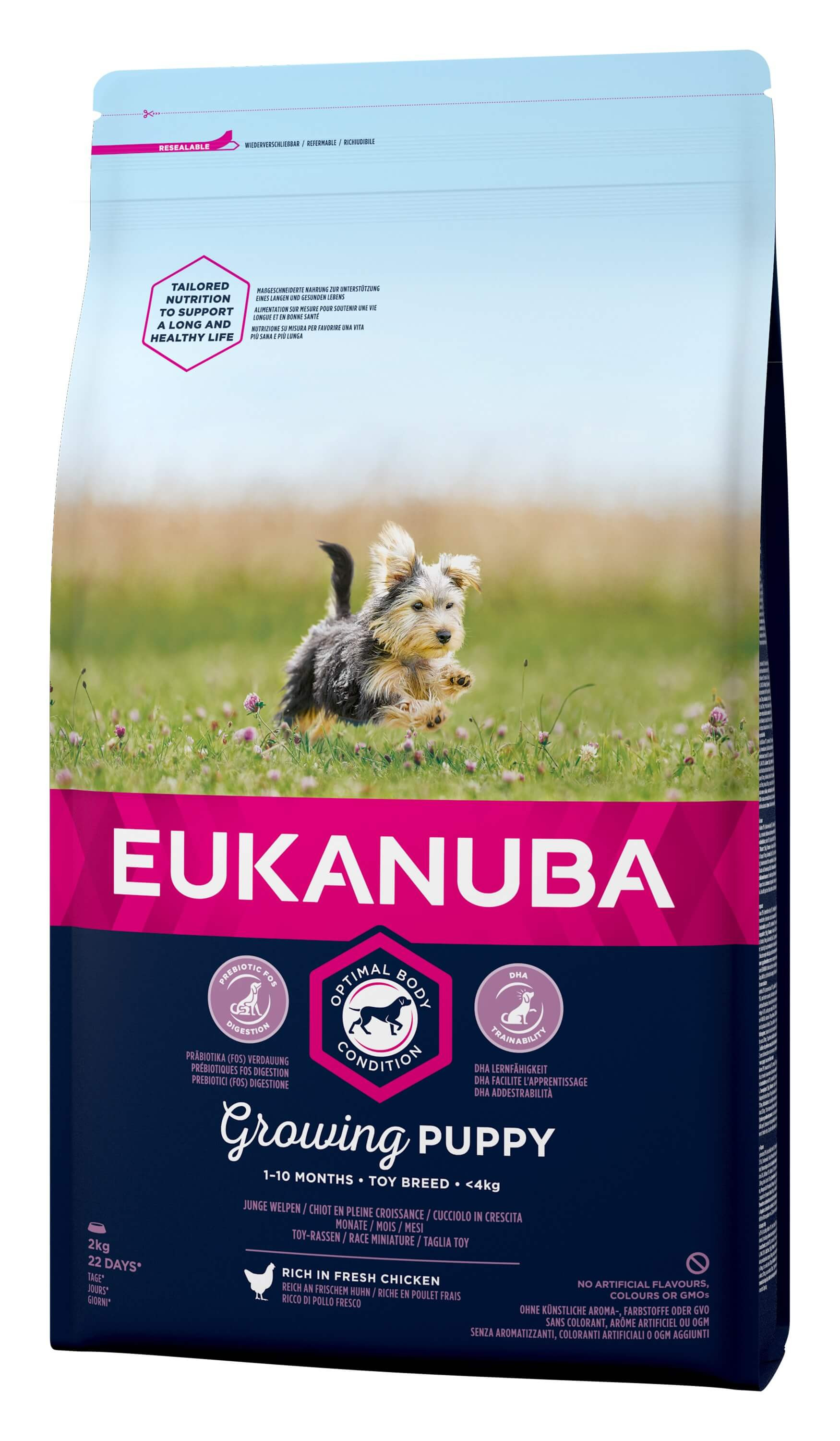 Eukanuba Dog Growing Puppy Toy Breed au poulet pour Chiot