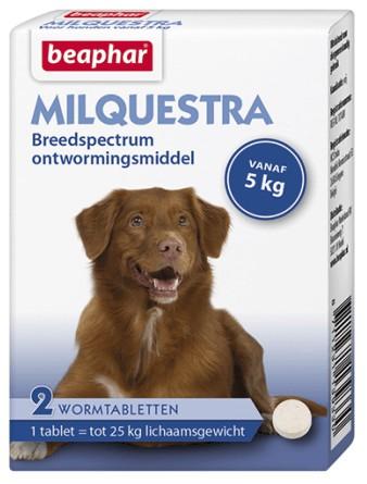 Beaphar Milquestra Ontwormingsmiddel hond (5-50 kg)