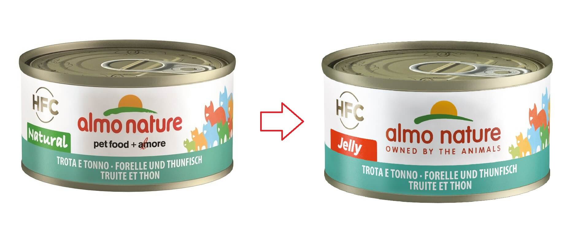 Almo Nature HFC Jelly Thon et Truite pour Chat nr. 5036H