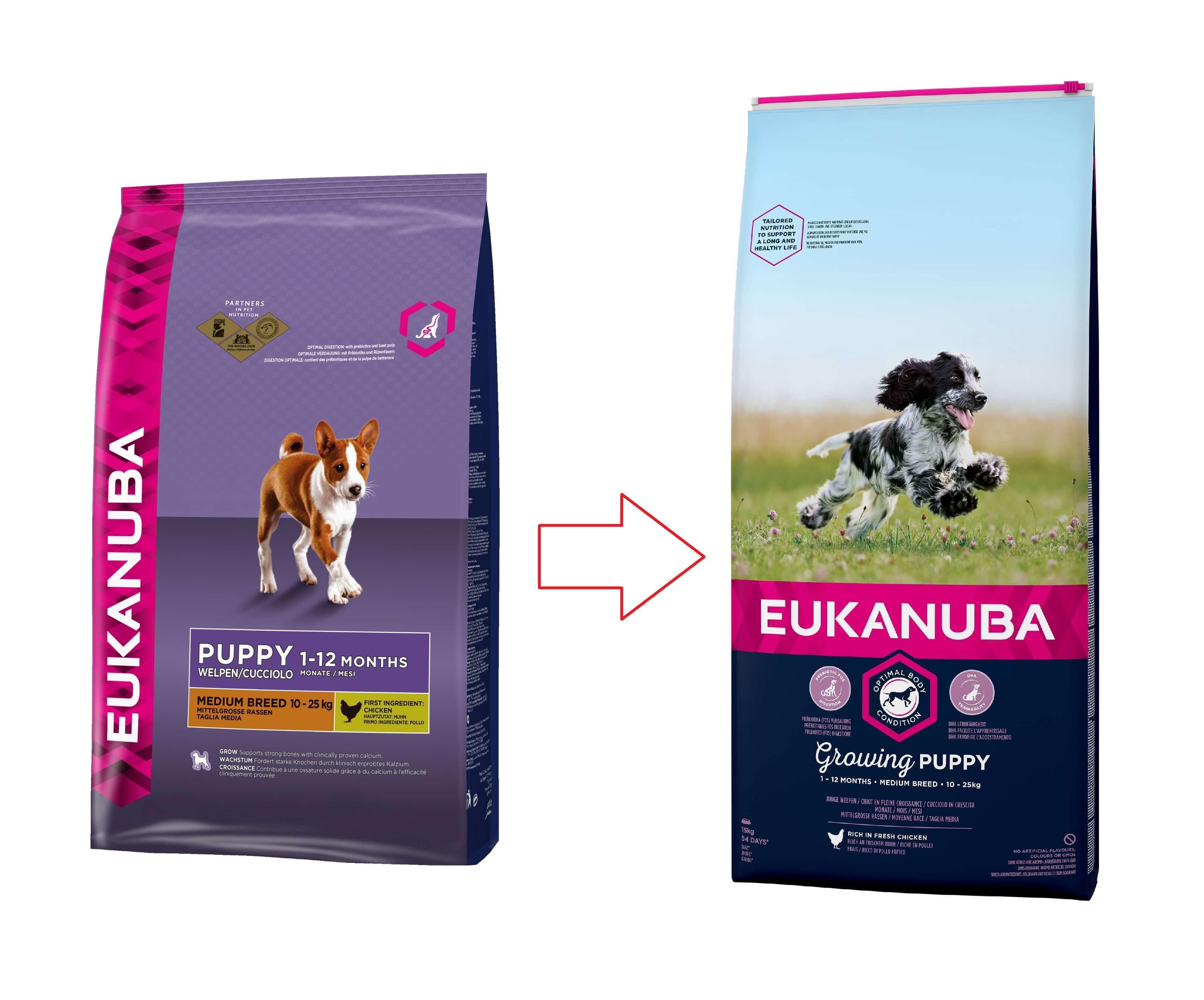 Eukanuba Puppy & junior Mediumbreed kip Hondenvoer